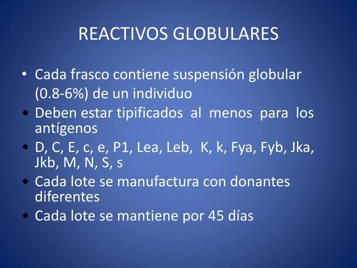 REACTIVOS GLOBULARES
