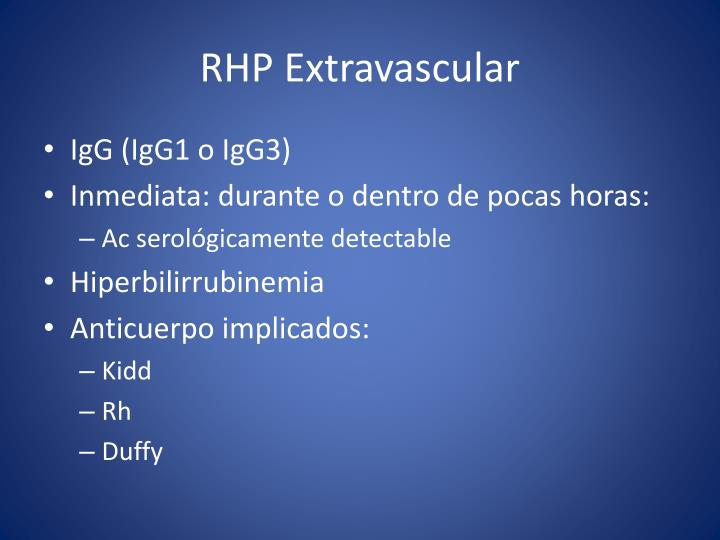 RHP Extravascular