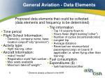 general aviation data elements