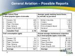 general aviation possible reports