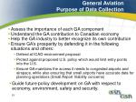 general aviation purpose of data collection