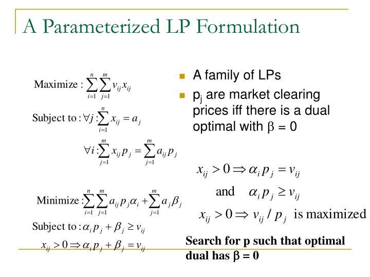 A Parameterized LP Formulation