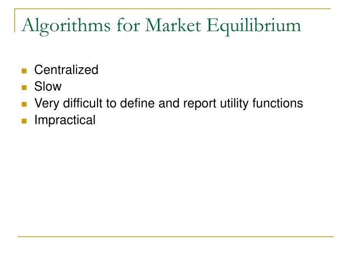 Algorithms for Market Equilibrium