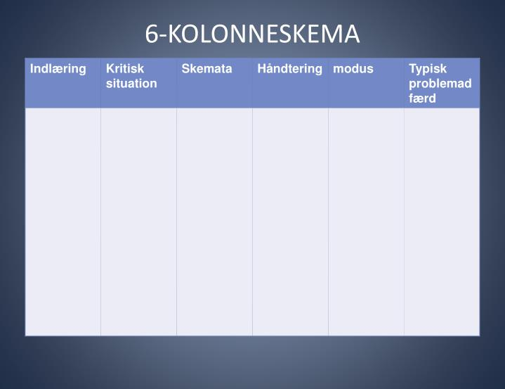 6-KOLONNESKEMA