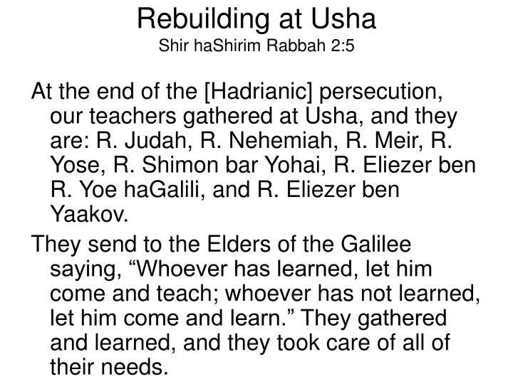 Rebuilding at Usha