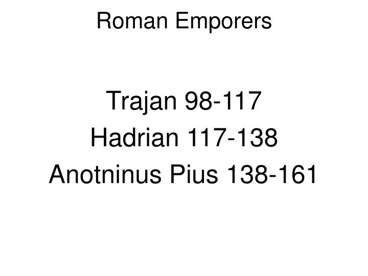 Roman emporers