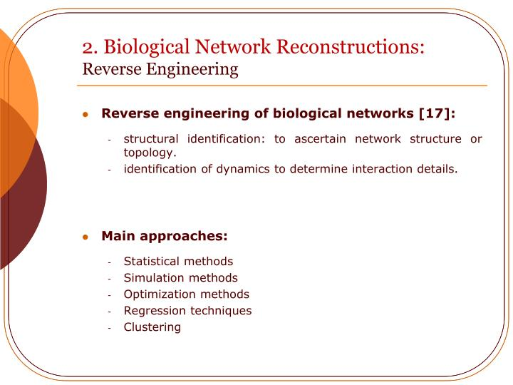 2. Biological Network Reconstructions: