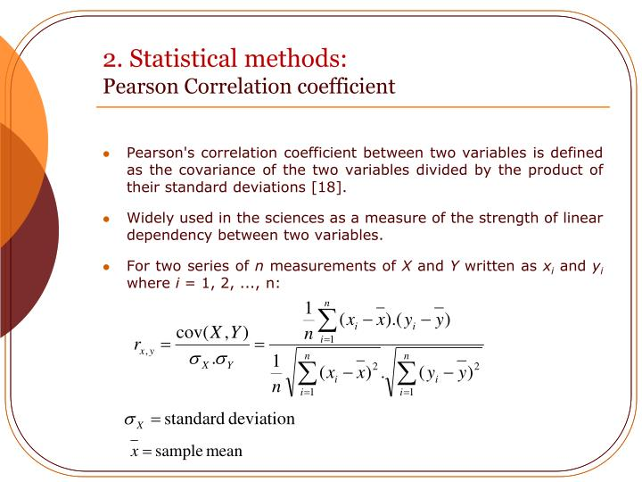 2. Statistical methods: