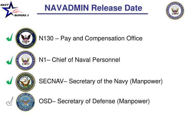NAVADMIN Release Date