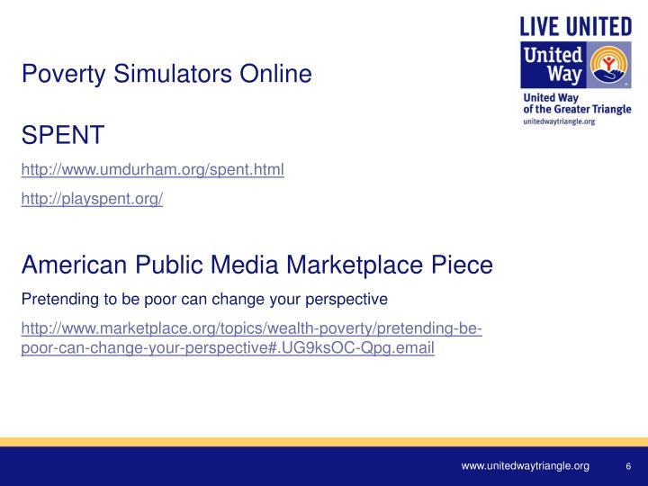 Poverty Simulators Online