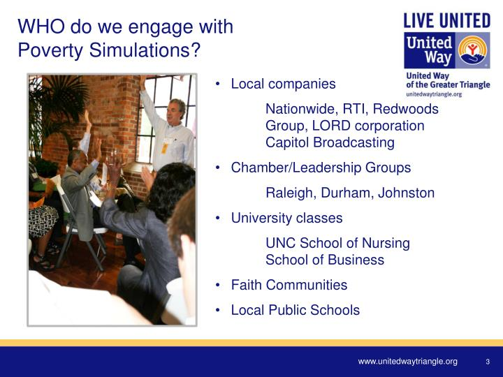 Who do we engage with poverty simulations