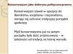 konserwatyzm jako doktryna polityczno prawna3