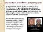 konserwatyzm jako doktryna polityczno prawna6