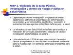 fesp 2 vigilancia de la salud p blica investigaci n y control de riesgos y da os en salud p blica