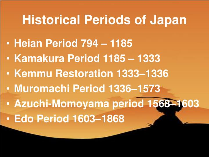 Historical periods of japan