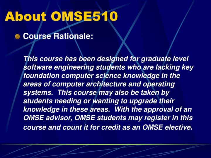 About omse510