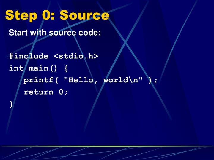 Step 0: Source