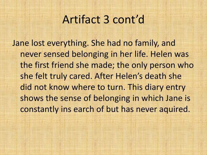 Artifact 3 cont'd