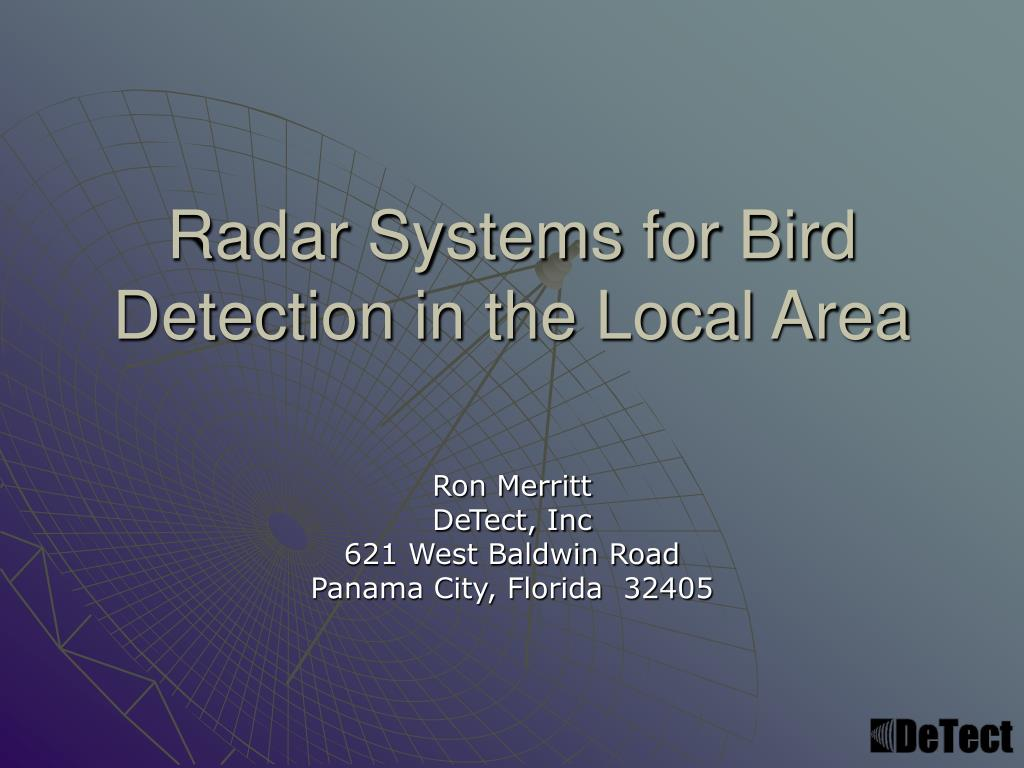 Ppt Radar Systems For Bird Detection In The Local Area Powerpoint X Band Block Diagram N