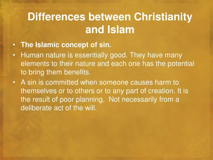 Differences between Christianity and Islam