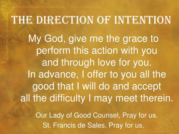 The direction of intention