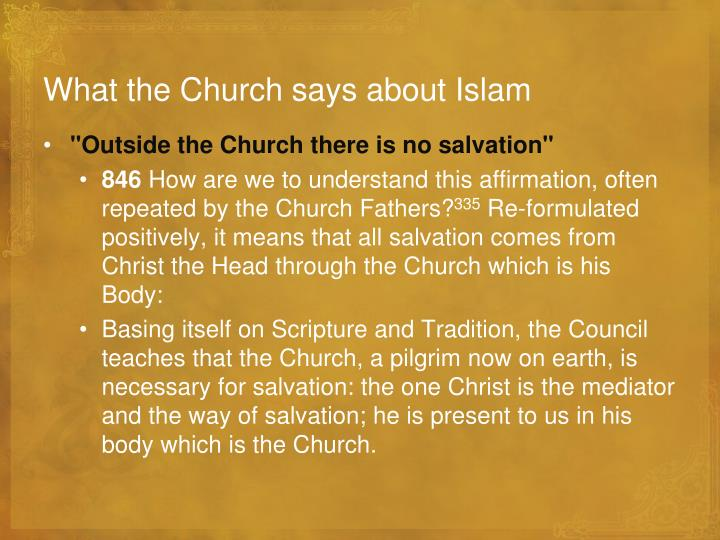 What the Church says about Islam