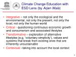 climate change education with esd lens by arjen wals
