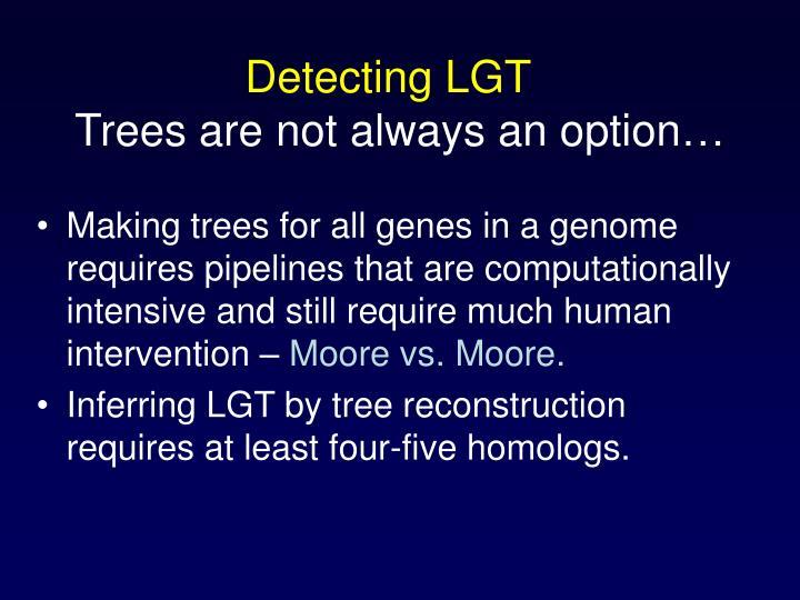 Detecting LGT