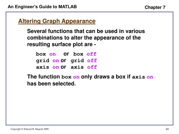 Altering Graph Appearance