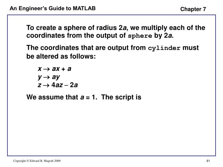 To create a sphere of radius 2