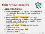 basic review indicators