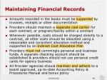 maintaining financial records1