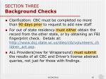 section three background checks