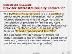 wraparound milwaukee provider interest specialty declaration