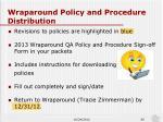 wraparound policy and procedure distribution