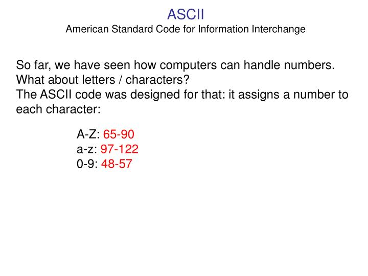 ASCII