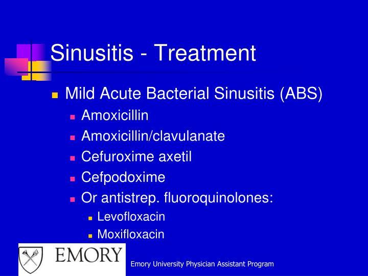 Sinusitis - Treatment