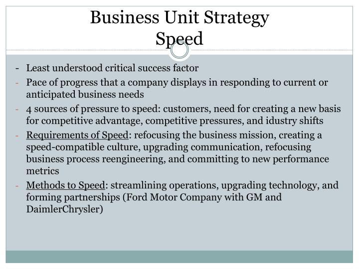 Business Unit Strategy