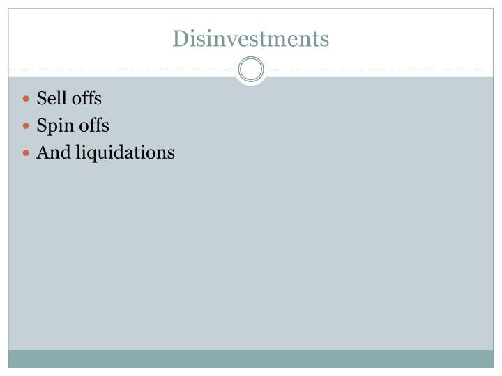 Disinvestments