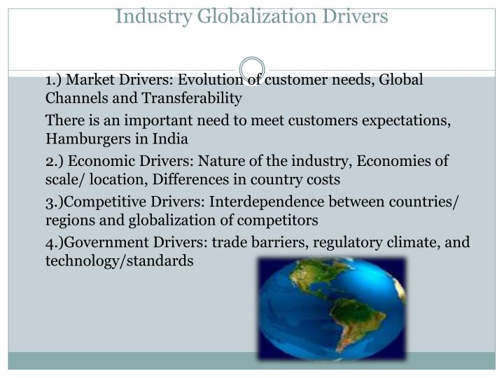 Industry Globalization Drivers