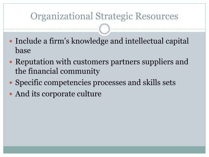 Organizational Strategic Resources