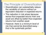 the principle of diversification