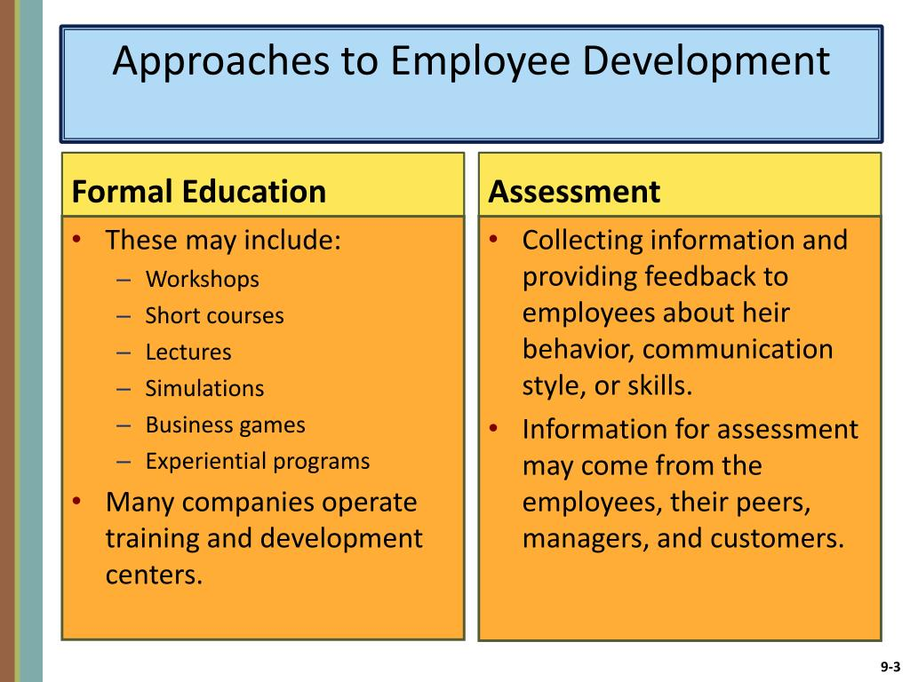 PPT - CHAPTER 9 Developing Employees for Future Success