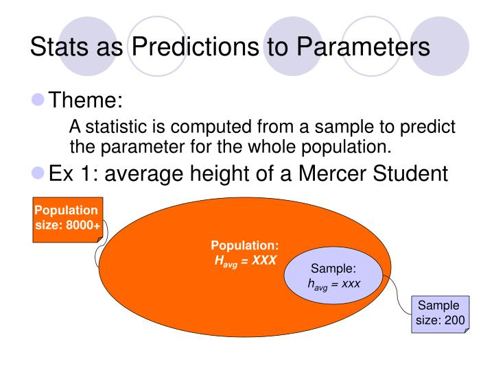 Stats as Predictions to Parameters