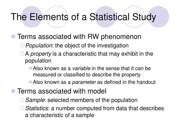 The Elements of a Statistical Study