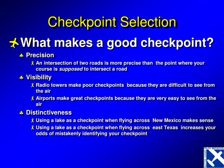 Checkpoint Selection