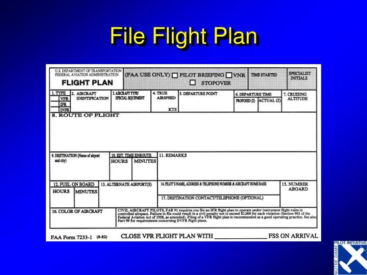 File Flight Plan