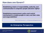 how does one govern