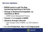 service updates