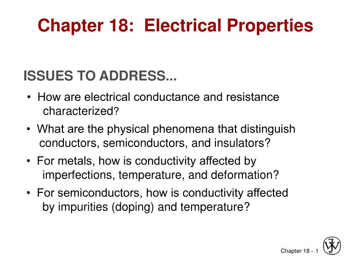 chapter 18 electrical properties n.